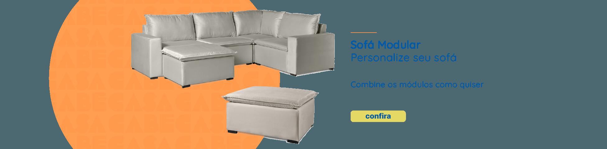 CabeCasa | Linha Ibi Modular. Sofá Modular. Personalize seu sofá.