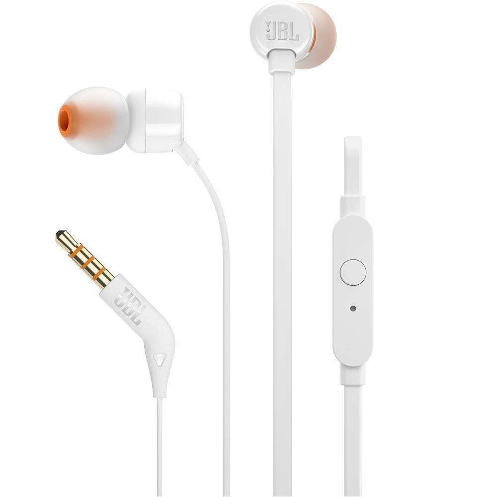 Menor preço em Fone de Ouvido Intra Auricular JBL T110 Branco com Microfone