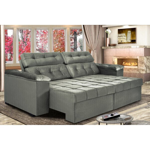 Strange Sofa Retratil E Reclinavel 3 Lugares 2 25M New Australia Cama Inbox Evergreenethics Interior Chair Design Evergreenethicsorg