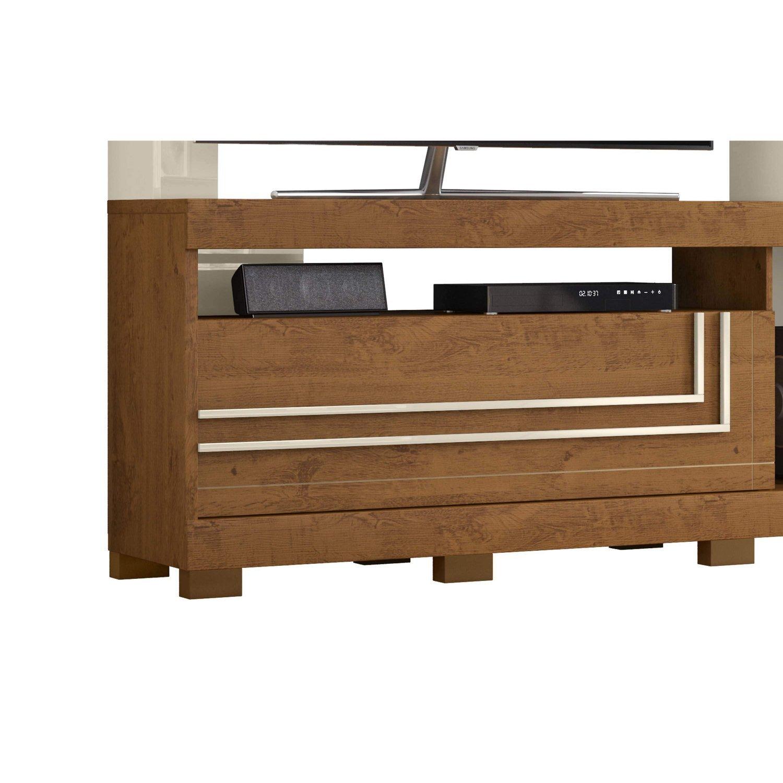 Estante Home Para Tv Ate 52 Polegadas 1 Porta Nice Belaflex Nature Off White Madeiramadeira