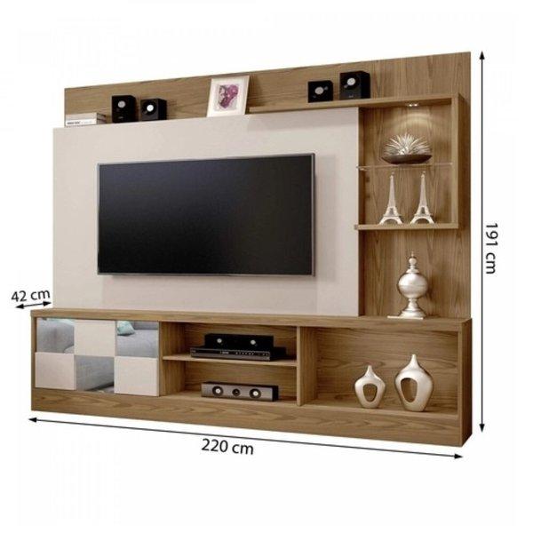 Home Theater para TV até 65 Polegadas Dinamarca Espelho Plus Mavaular Damasco Soft/Off - imagem destaque 1