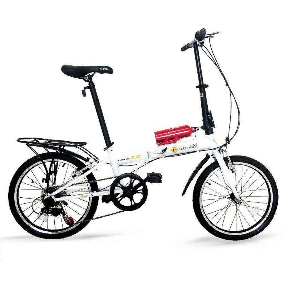 Bicicleta Pelegrin Tempo 3.0 Aro 20 Rígida 7 Marchas - Branco