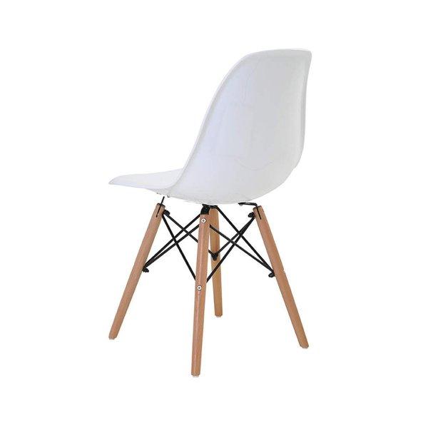 Cadeira Charles Eames Eiffel Nude Base Madeira   Leroy Merlin