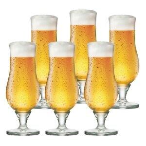 Jogo de Taças de Cerveja Warst Cristal 340ml 6 Pcs