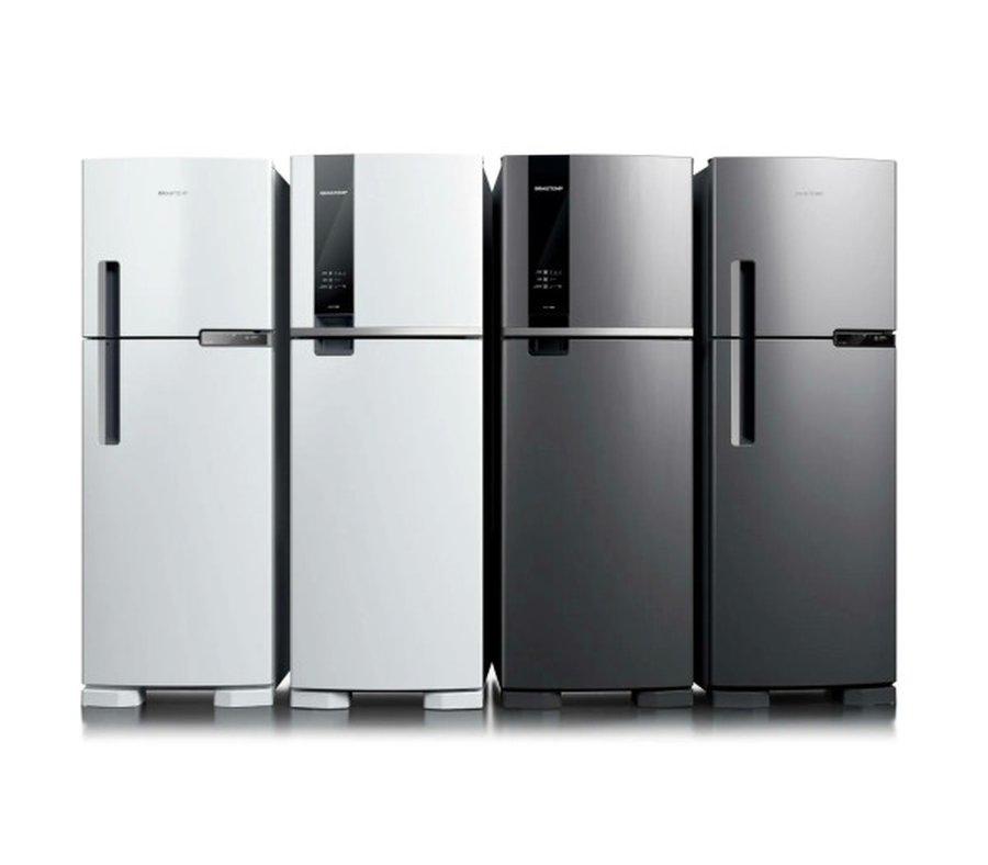 Geladeira Brastemp Frost Free Duplex 375 litros cor Inox com Espaço Adapt - BRM45HK Inox | MadeiraMadeira