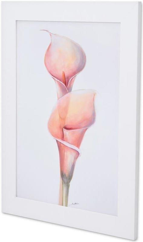 Quadro Decorativo Flor Copo De Leite Rosa Sem Vidro 60x80cm
