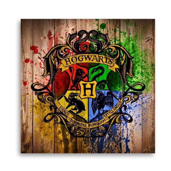 Quadro Harry Potter Hogwarts Madeira Art 60x60 Decorativo