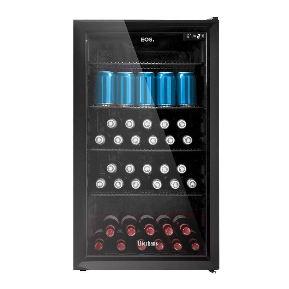 Geladeira/refrigerador 98 Litros 1 Portas Preto Bierhaus - Eos - 220v - Ece100