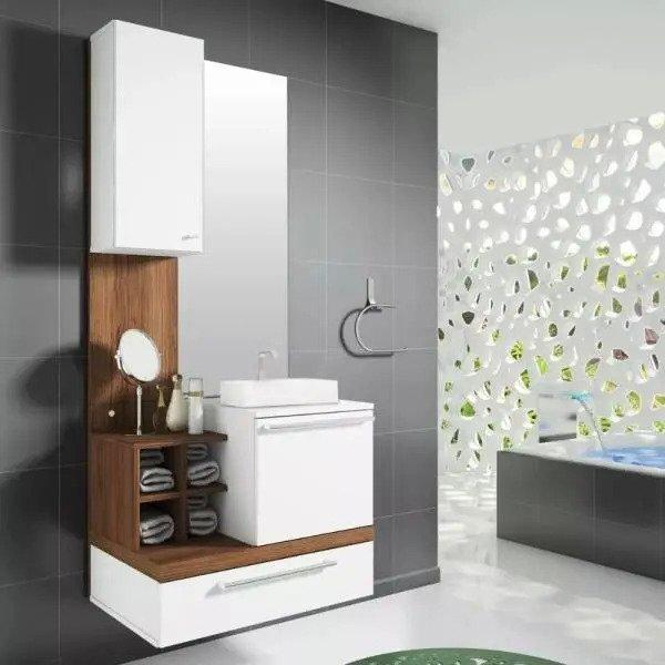 Gabinete Para Banheiro Alteza Com Espelheira Cuba Espelho
