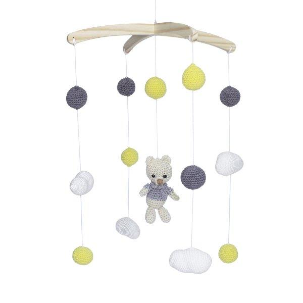 Mobile musical em Amigurumi tema urso no Elo7 | Arts Peraltinha ... | 600x600