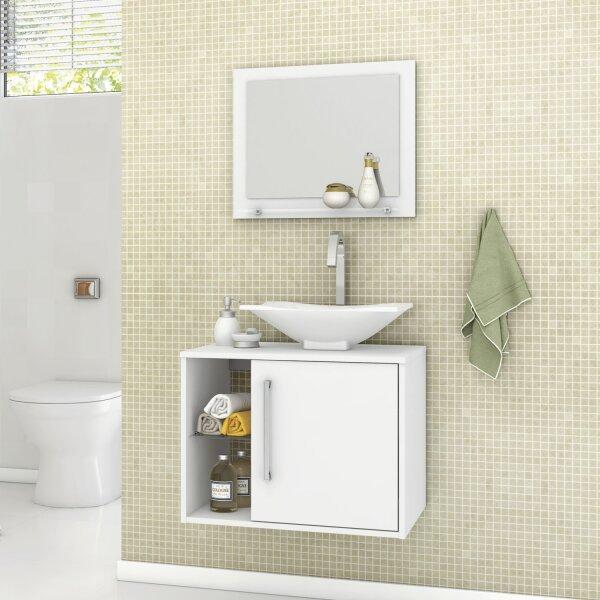 Gabinete Para Banheiro Com Cuba E Espelheira Baden Móveis