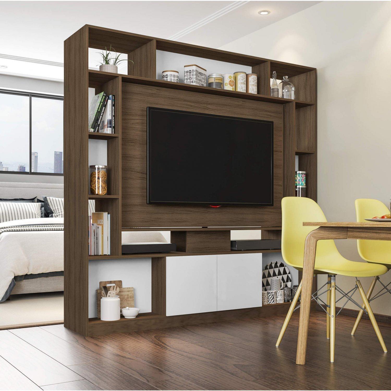 divisor de sala de estar Estante Home Para TV At 55 Polegadas Divisor De Ambientes