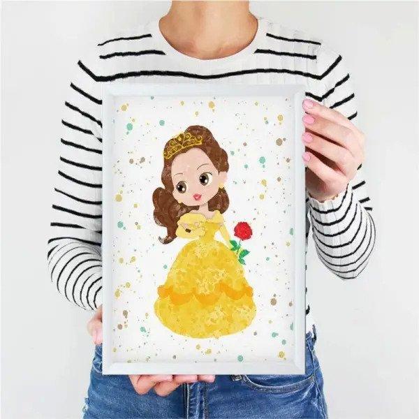Quadro Infantil Desenho Disney Bela Madeiramadeira