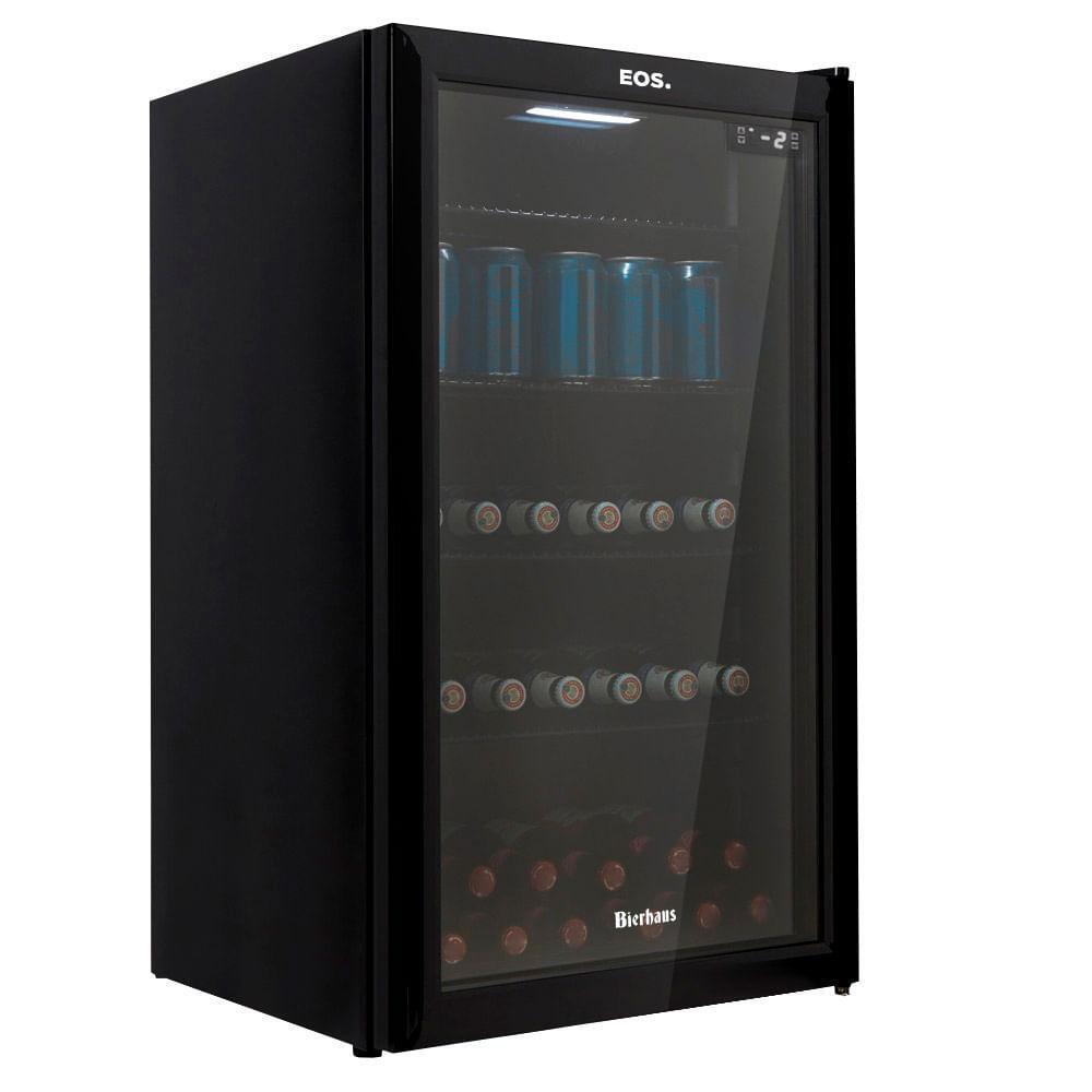 Geladeira/refrigerador 98 Litros 1 Portas Preto Bierhaus - Eos - 110v - Ece100
