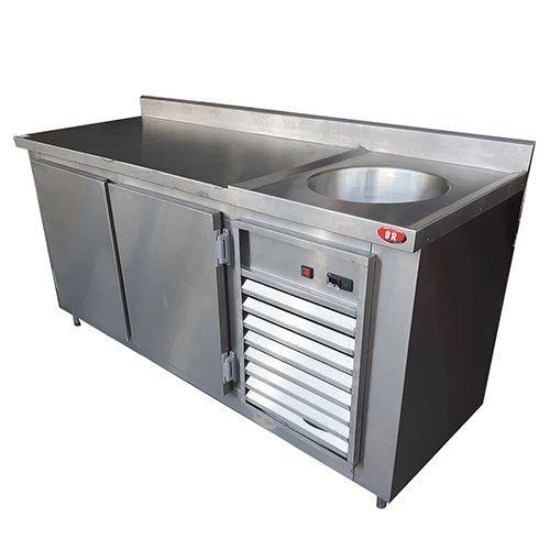 Balcao Refrigerado Aco Inox Com Pia 2 80 Metros Madeiramadeira