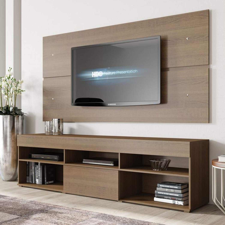 Porta Tv Rack.Rack Com Painel Para Tv Ate 55 Polegadas 1 Porta Miami Siena Moveis