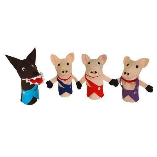 Conjunto Fantoches Os Tres Porquinhos Especial 4 Un