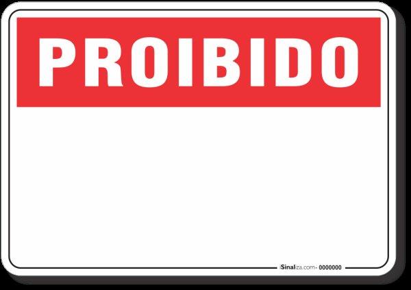 PLACA PROIBIDO PERSONALIZADA | MadeiraMadeira
