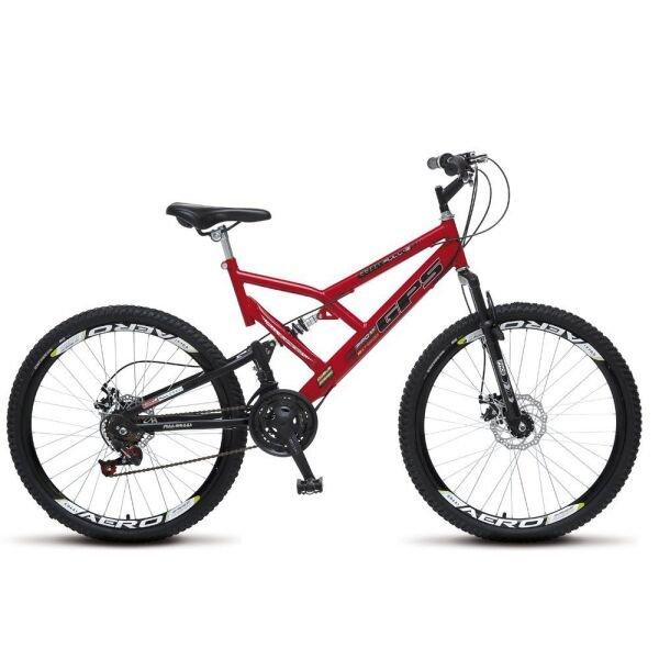 Bicicleta Colli Bike Gps Aro 26 Full Suspensão 18 Marchas - Vermelho