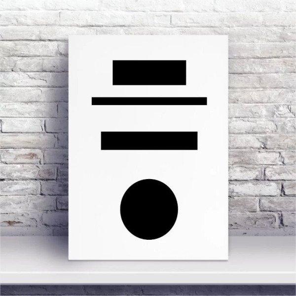 Placa Mdf Minimalista Formas Geometricas Madeiramadeira