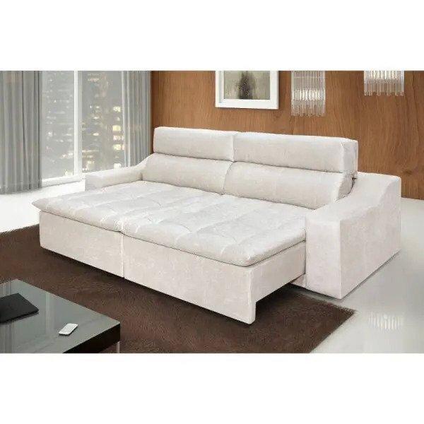 Sofá 4 Lugares Connect com Pillow Retrátil e Reclinável ...